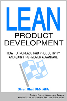 Lean product development, shruti bhat, business process management, continuous improvement consulting