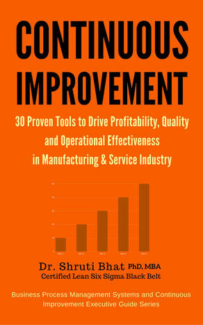 continuous improvement tools, 30 continuous improvement tools to drive profitability, quality and operational effectiveness in manufacturing and service industries, shruti bhat, book on continuous improvement tools