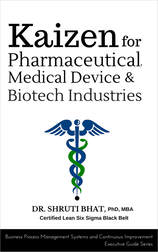 Kaizen for pharmaceuticals, medical devices and biotech industries