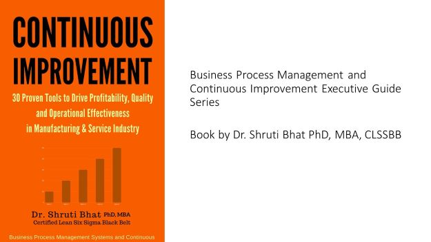 Continuous improvement tools, 30 continuous improvement tools  to drive profitability quality and operational effectiveness in manufacturing and service industry book by Dr Shruti Bhat