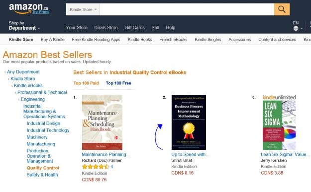 how to choose a business process improvement methodology and measure the positive change book ranks #2 on Amazon Best- sellers