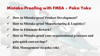 Mistake-proofing with FMEA and Poka Yoke, workshop by Dr Shruti Bhat