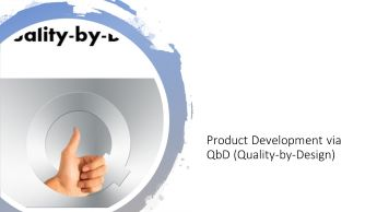 product development via quality by design workshop by Dr Shruti Bhat,