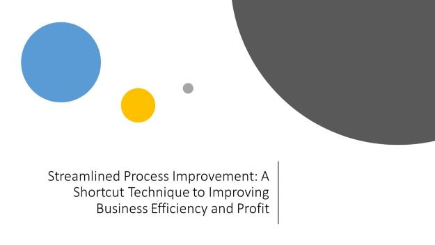 streamlined process improvement_ A shortcut technique to improve business efficiency and profit