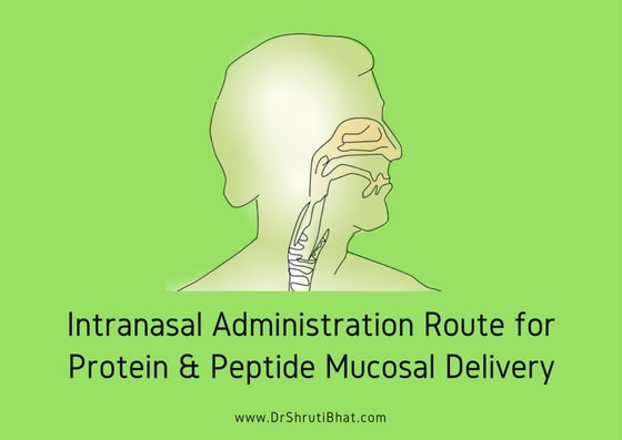 Intranasal administration route for protein & peptide mucosal delivery.Picture